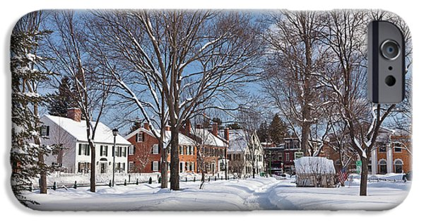 New England Village iPhone Cases - Woodstock Green iPhone Case by Susan Cole Kelly