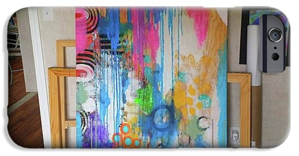 iPhone 6 Case - Working On A New Plywood..5 Ft X 3.5 Ft by Robin Mead