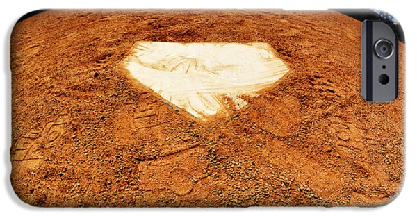 Baseball Stadiums iPhone Cases - World of Baseball Home Plate iPhone Case by Lane Erickson