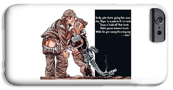 Safety iPhone Cases - WWII Joe Dope Cartoon iPhone Case by War Is Hell Store