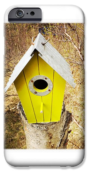 House iPhone 6 Case - Yellow Bird House by Matthias Hauser