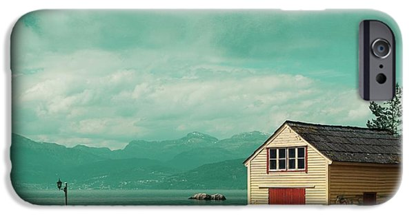 Norway iPhone Cases - Yellow cottage iPhone Case by Sonya Kanelstrand