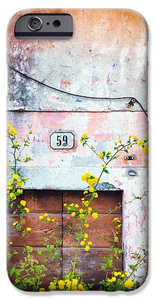 Yellow Flowers And Decayed Wall IPhone 6 Case by Silvia Ganora