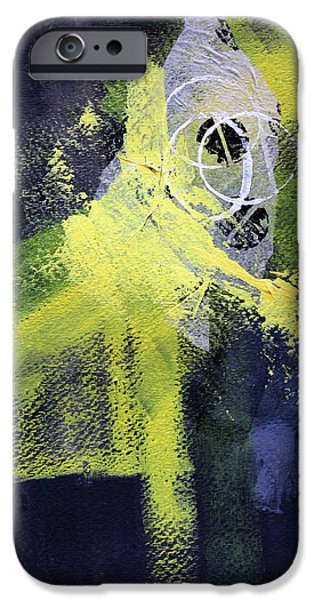 IPhone 6 Case featuring the painting Yellow Splash by Nancy Merkle