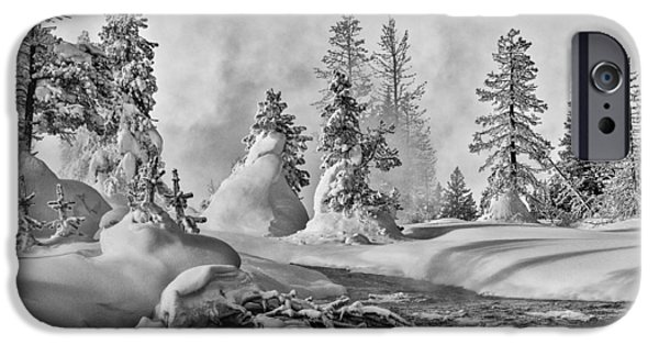 IPhone 6 Case featuring the photograph Yellowstone In Winter by Gary Lengyel
