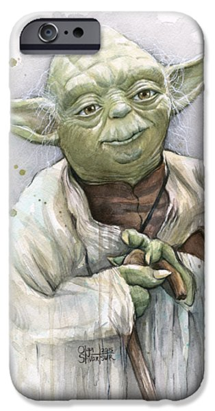 Star iPhone 6 Case - Yoda by Olga Shvartsur