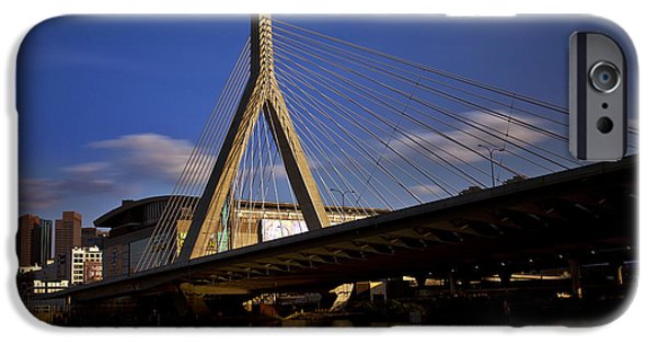 Boston iPhone Cases - Zakim Bridge and Boston Garden at Sunset iPhone Case by Rick Berk