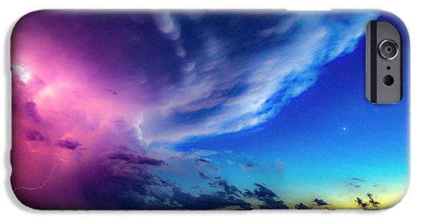 Nebraskasc iPhone 6 Case - Epic Nebraska Lightning 007 by NebraskaSC