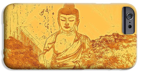 Buddhism iPhone 6 Case - Warm Buddha by Magda Van Der Kleij