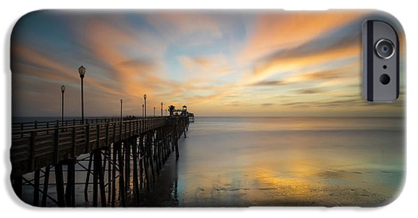 Pacific Ocean iPhone 6 Case - Oceanside Pier Sunset by Larry Marshall