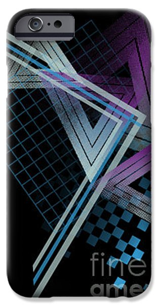 Illusion iPhone 6 Case - 80s Style Abstract Shapes by Tairy Greene