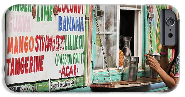 Smoothie iPhone 6 Case - A Smoothie Truck At A Roadside Fruit Stand, Maui, Hawaii by Derrick Neill