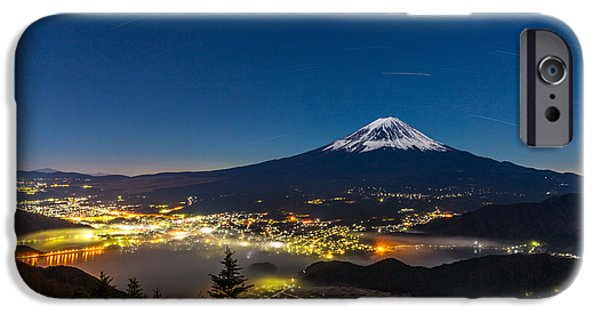 Early iPhone 6 Case - Aerial Mount Fuji With Kawaguchiko Lake by Vichie81
