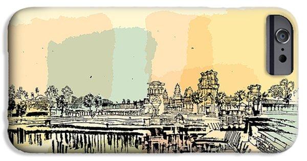 Buddhism iPhone 6 Case - Angkor Wat, Cambodia. Hindu  Buddhist by Babayuka