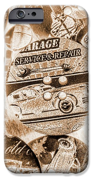 Sepia iPhone 6 Case - Antique Service Industry by Jorgo Photography - Wall Art Gallery