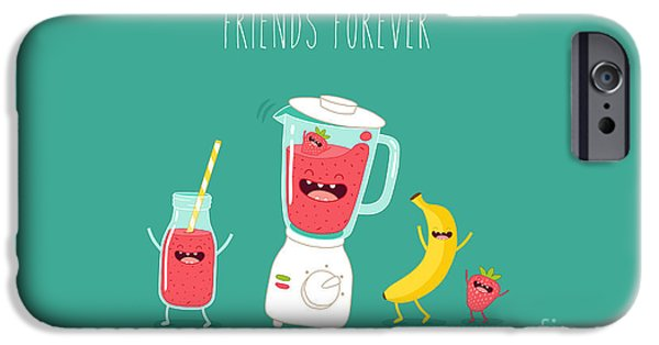Smoothie iPhone 6 Case - Blender Making Fruits Smoothie. Vector by Serbinka