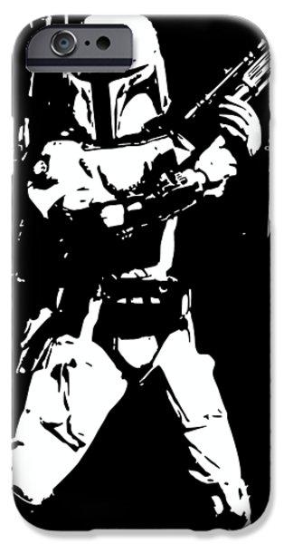 Yoda iPhone 6 Case - Boba Fett Minimalistic Pop Art by Filip Hellman