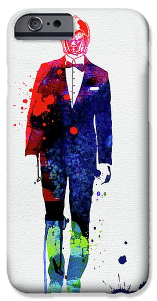 Yoda iPhone 6 Case - C-3po In A Suite Watercolor by Naxart Studio