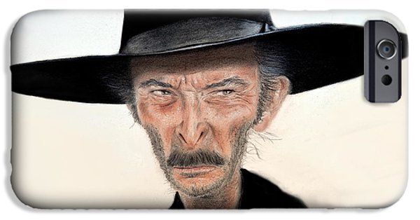 62dad6e22acdd Spaghetti Western iPhone 6 Case - Caricature Of Lee Van Cleef As Angel Eyes  In The