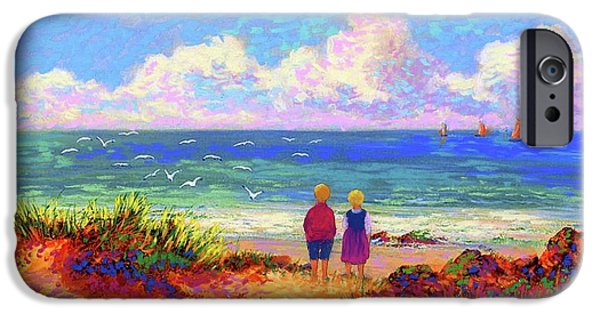 Figurative iPhone 6 Case - Children Of The Sea by Jane Small