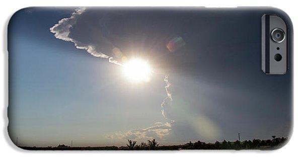 Nebraskasc iPhone 6 Case - Dying Nebraska Thunderstorms At Sunset 002 by NebraskaSC