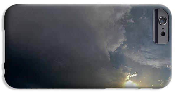Nebraskasc iPhone 6 Case - Dying Nebraska Thunderstorms At Sunset 010 by NebraskaSC