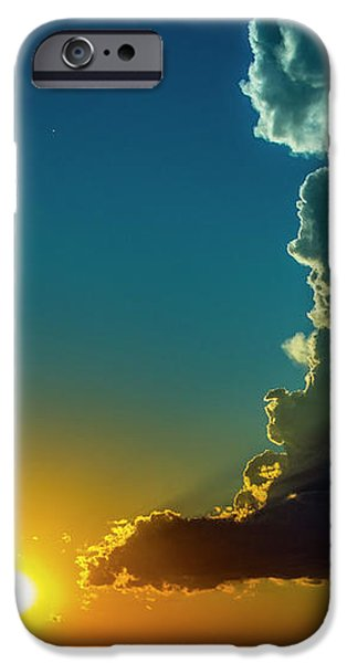 Nebraskasc iPhone 6 Case - Dying Nebraska Thunderstorms At Sunset 068 by NebraskaSC