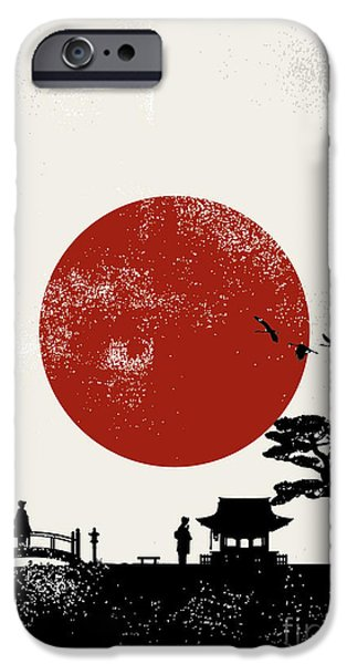 Buddhism iPhone 6 Case - Japan Scenery Poster, Vector by Seita