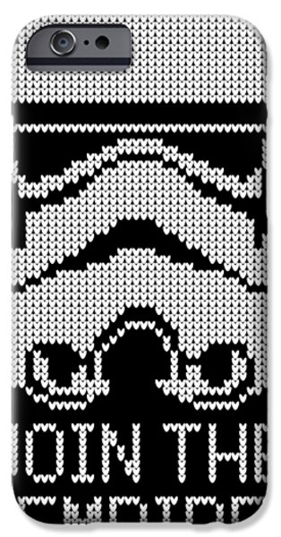 Yoda iPhone 6 Case - Knitted Storm Trooper - Join The Empire by Filip Hellman