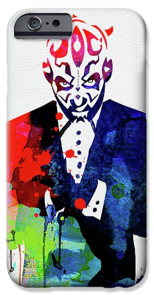 Yoda iPhone 6 Case - Maul In A Suite Watercolor by Naxart Studio