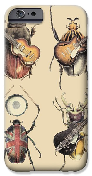 Retro iPhone 6 Case - Meet The Beetles by Eric Fan