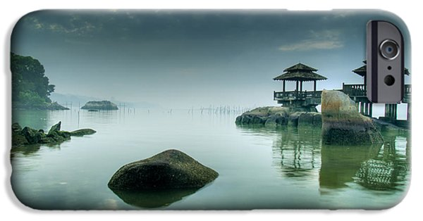 Illusion iPhone 6 Case - Misty Morning As Seen Over Rocks by Lawrence Wee