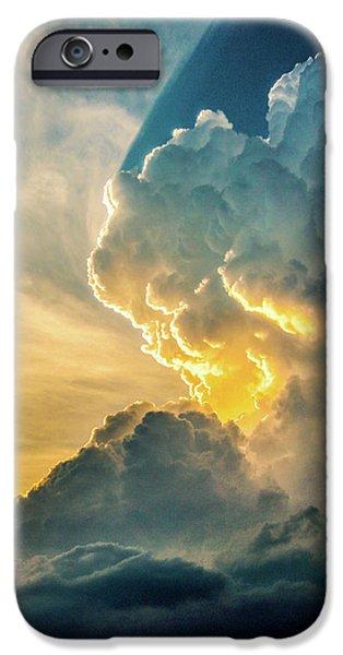 Nebraskasc iPhone 6 Case - Nebraska Sunset Thunderheads 075 by NebraskaSC