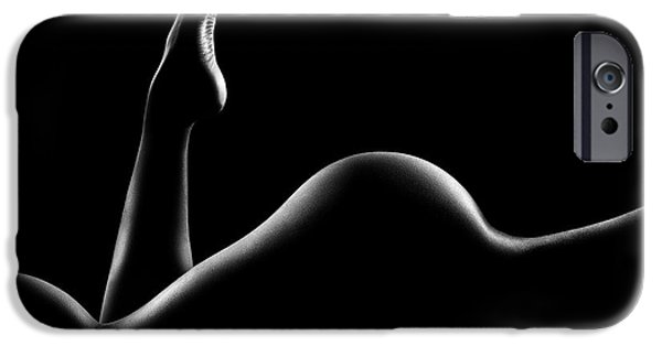 Nude Figurative iPhone 6 Case - Nude Woman Bodyscape 14 by Johan Swanepoel