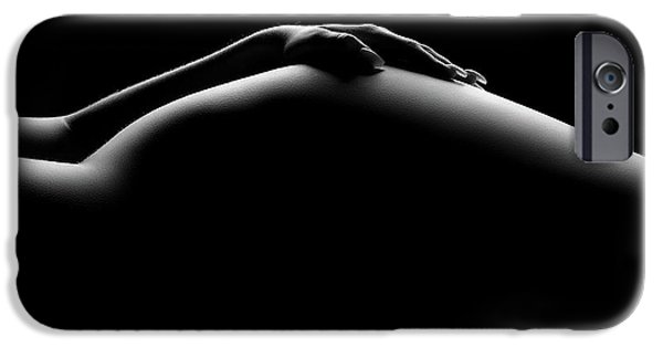 Nude Figurative iPhone 6 Case - Nude Woman Bodyscape 19 by Johan Swanepoel