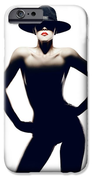 Nude Figurative iPhone 6 Case - Nude Woman With Hat by Johan Swanepoel