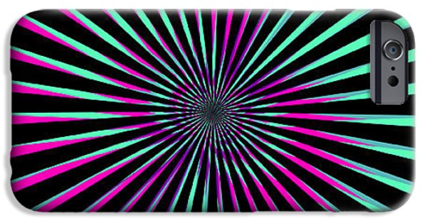 Illusion iPhone 6 Case - Optical Illusion Bright by Christiana Mustion