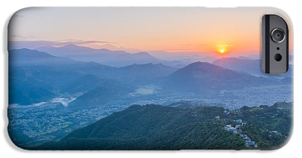 Early iPhone 6 Case - Pokhara Sunrise At Sarangkot Hill With by Gunnar Van Eenige