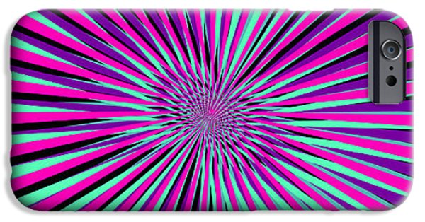 Illusion iPhone 6 Case - Pyschedelic Pink & Purple Art by Christiana Mustion