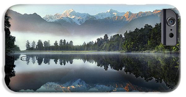 Illusion iPhone 6 Case - Reflection Of Lake Matheson by Supachart