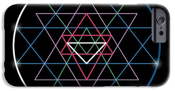Buddhism iPhone 6 Case - Sacred Geometry And Alchemy Symbol Sri by Maddyz