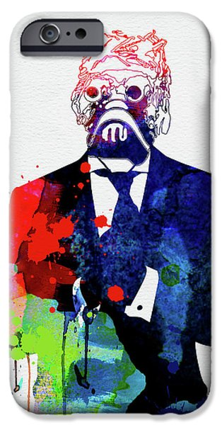 Yoda iPhone 6 Case - Sand Warrior In A Suite Watercolor by Naxart Studio