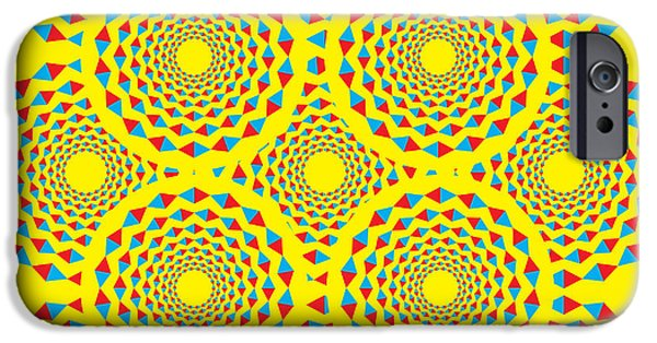 Illusion iPhone 6 Case - Spin Diamonds by Mark Grenier