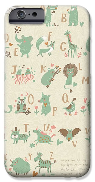 Bat iPhone 6 Case - Stylish Zoo Alphabet In Vector. Lovely by Smilewithjul
