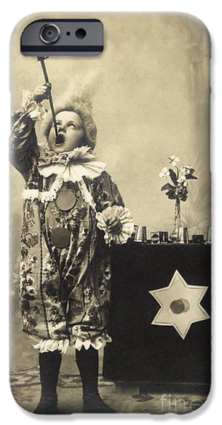 Illusion iPhone 6 Case - Vintage Photo Of Child Sword Swallower by Chippix