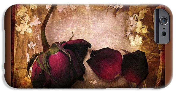 Red Rose iPhone 6 Case - Vintage Rose Petals by Jessica Jenney