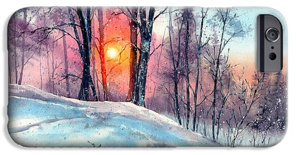 Village iPhone 6 Case - Winter Woodland In The Sun by Suzann Sines