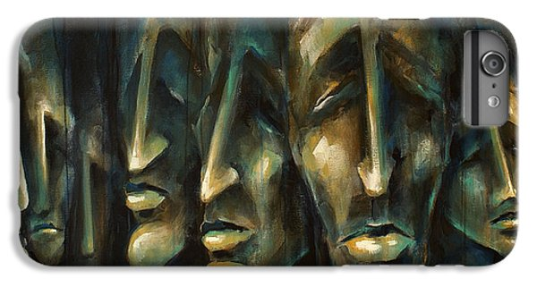 Figurative iPhone 6 Plus Case -  ' Jury Of Eight ' by Michael Lang