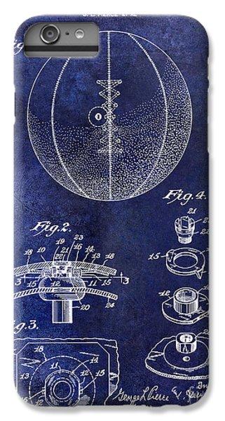 1927 Basketball Patent Drawing Blue IPhone 6 Plus Case by Jon Neidert