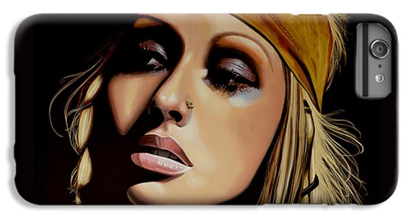 Christina Aguilera Painting IPhone 6 Plus Case by Paul Meijering